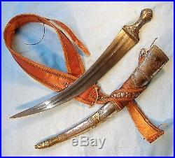 Nice Old Antique Arab Dharia Jambiya Dagger from Hijaz / sword shamshir tulwar