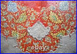 OLD PERSIAN MICRO MOSAIC LACQUER PHOTO ALBUM PAINTED PANELS SILVER Islamic Art