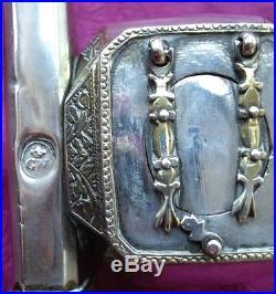 Ottoman Silver Pencase Inkwell Turkish Divit Middle Eastern Islamic Qalamdan Box