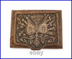 OTTOMAN TURKISH POW Carved WW1 TRENCH ART CIGARETTE CASE c1918