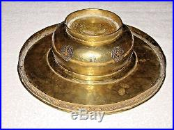 Old, Beautiful, Antique Copper Censer worked with Silver, Collection piece, 18C
