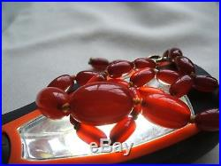Old Genuine Cherry Amber Bead Necklace