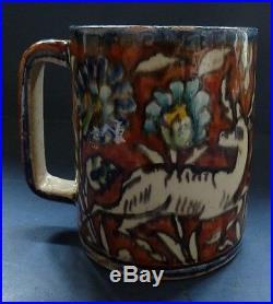 Old Jerusalem Armenian Pottery Frog Mug Iznik Style (2)