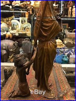 Orientalist Franz Bergman Austrian Vienna Bronze Egyptian Harem Lady Odalisque