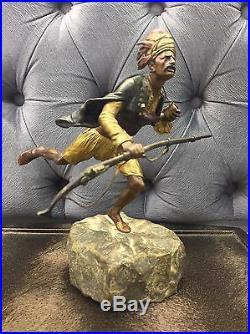 Orientalist Franz Bergman Austrian Vienna Bronze Ottoman Arab Warrior