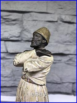 Orientalist Franz Bergman Austrian Vienna Bronze Ottoman Arab Whirling Dervish
