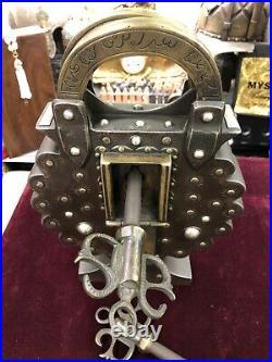 Orientalist Ottoman Style Islamic Big Harem Lock Padlock With Two Keys