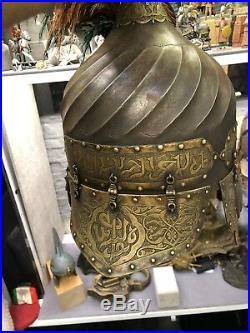 Orientalist Unique Art Ottoman Style Iron Turban Helmet