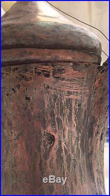 Original Antique Dallah Coffee Pot Middle East Bedouin Copper