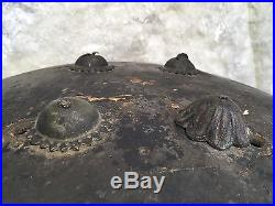 Original Antique Leather Islamc Bedouin Sheild War Arabic Middle Eastern