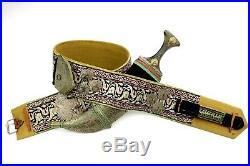 Ornate Islamic Arabic Arab JAMBIYA Dagger with Beautiful Gold Threaded Belt