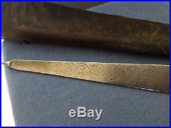 Ottoman Aghan Islamic Yataghan Pesh Kabz Sword Dagger Knife Khanjar