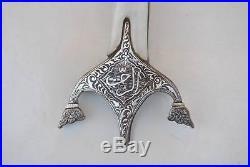 Ottoman Persian Safavid Silver Quartz Jade Kilij Saber shamshir Karabela Hilt