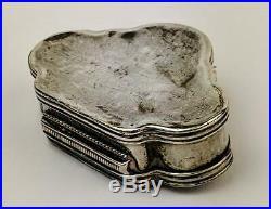 Ottoman Provinces / Armenian Solid Silver Repousse Box 18th /19th Century