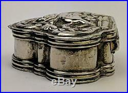 Ottoman Provinces / Armenian Solid Silver Repousse Box 18th /19th Century