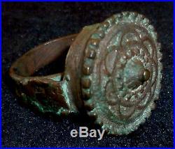 PERSIAN EMPIRE Safavid Dynasty Copper RING Circa 15th 17th Century AD 5