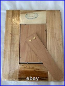 Persian Handmade, Hand Painted Khatam Mirror With Wooden Frame NEW