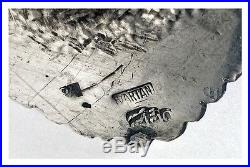 Persian Islamic Solid Silver Sterling Tray 16.3 inches (41.5 cm) 1179 gram