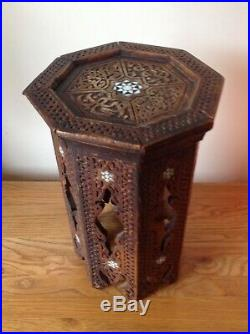 Persian Islamic inlaid table