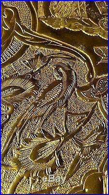 Qalamzi Indo-persian-arabic Brass Etched Tray