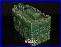 RARE Museum Islamic Moroccan 18th / 19th C. Glazed Pottery Inkwell Pen Stand