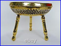 RARE Vintage Antique Brass Middle Eastern Persian Turkish Foot Warmer Stool E740