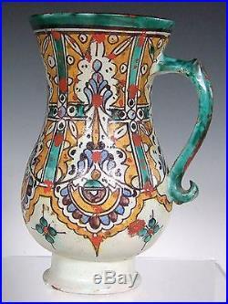 Rare 19thC Moroccan Pottery Tankard