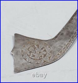 Rare Antique Central Asia Indian Hindu Hmughal Tulwar Sikh Sword Knife Dagger