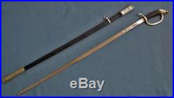 Rare Antique Islamic Persian Army Officer Sword With Zoroastrian Faravahar
