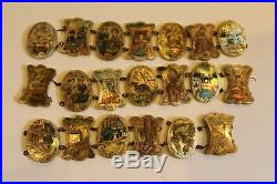 Rare Antique PERSIAN STORY BRACELET SECTIONS Mother of Pearl 18 ea in 3 Section