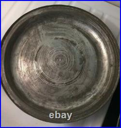Rare Signed Antique Ottoman Persian Turkish Islamic Copper Domed Serving Tray