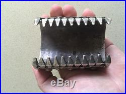 Rare Sterling Silver Antique Heavy Middle Eastern Heavy Superb Bracelet Cuff