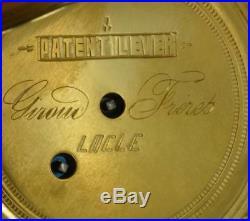 Rare antique Ottoman Pasha award 18k Gold plated silver watch. Tughra case&dial