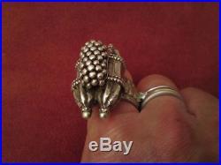 Rare antique silver initial J. H. L. Islamic ring