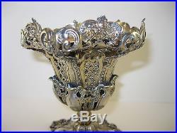 Rare c1900 Islamic Turkish / Ottoman Silver Spoon Holder w Hallmarks