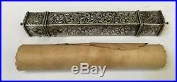 Roll ottoman Manuscript Miniature Painting with box