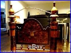 SWAT 1800s Tribal Indian TIBET PRAYER CHAIR carved hand-painted HEAVEN on EARTH