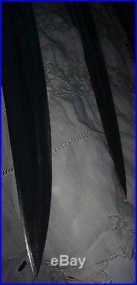 Saudi Arabia Wahabite Jambiya Curved Daggers (2) with sheaths Syrian Antiques