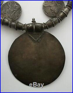 Scarce Arabia Omani Samt Mukahhal Silver Necklace 1780 Maria Theresa Thaler