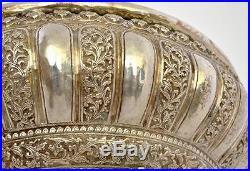 Set of 11 Persian Sterling Silver Punch Bowl Set 1964 gram