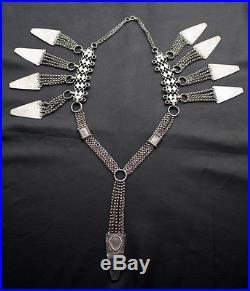 Silver Omani Headdress With Triangular Ear Ornaments MISHILL Sur & Dhofar