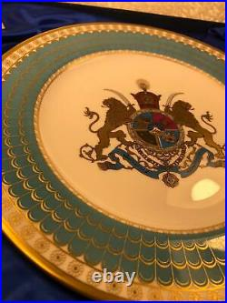Spode Imperial Plate of Persia 1971 Limited Edition RARE Mohd Reza Shah Pahlavi