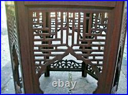 Stunning Antique Islamic Hexgonal Wooden Inlaid Side Table