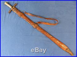 Sudanese Kaskara sword (sabre dagger) Sudan Early 20th