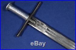 Sudanese Kaskara sword with beautiful engraved blade Sudan Early 20th