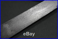 Supeb Ottoman kard dagger with wootz blade and silver sheath 19th century