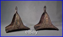 Superb Antique 17-18th Century Islamic Turkish Ottoman Saddle Stirrups to sword