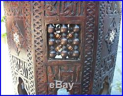 Superb Antique Octagonal Islamic Wooden Inlaid Side Table