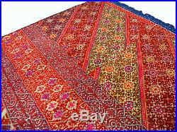 Swat Valley silk embroidered Pulkari shawl 19 cent. Pakistan great condition 20B