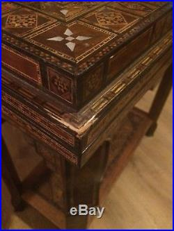 Syrian inlaid games table